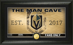 Vegas Golden Knights Man Cave Panoramic Bronze Coin Photo Mint