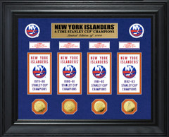 New York Islanders 4-Time Stanley Cup Champions Deluxe Gold Coin & Banner Collection