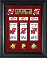 New Jersey Devils Stanley Cup Deluxe Banner Collection Photo Mint