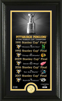 "Pittsburgh Penguins ""Legacy"" Bronze Coin Photo Mint"