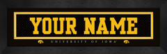 University of Iowa Personalized Jersey Nameplate
