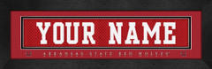 Arkansas State Red Wolves Personalized Jersey Nameplate