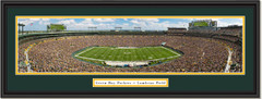 Green Bay Packers Lambeau Field Framed Panoramic Print