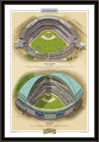 Milwaukee Historic Ballparks of Baseball Framed Print