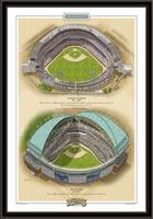 Milwaukee Historic Ballparks of Baseball Framed Print