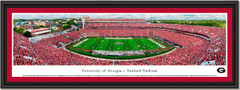 Georgia Bulldogs Football Sanford Stadium Framed Panoramic
