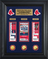 Boston Red Sox 2018 World Series Champions Deluxe Gold Coin & Ticket Collection