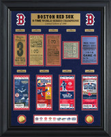 Boston Red Sox 9-Time World Series Champions Gold Coin & Ticket Collection