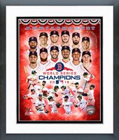 2018 World Series Champs Boston Red Sox Framed Composition