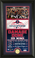 "Boston Red Sox WS 2018 Champs ""Damage Done"" Bronze Coin Supreme Photo Mint"