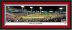 2018 World Series Game One Opening Ceremony Framed Panoramic Double Matted Black Frame