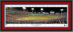 2018 World Series First Pitch Framed Panoramic -- SIGNATURE EDITION -- Double Matting and Black Frame