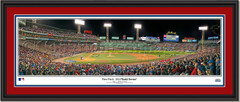 2018 World Series First Pitch Framed Panoramic Double Matting and Black Frame