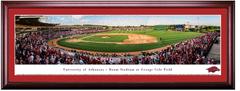 Arkansas Razorbacks Baseball Framed Panoramic