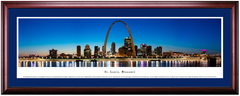 St. Louis Arch and Skyline at Twilight Framed Print