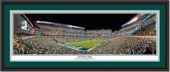 Philadelphia Eagles 2018 Banner Night at Lincoln Field Framed Panoramic Double Mat and Black Frame