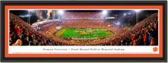 2018 Season Clemson University Football Frank Howard Field at Memorial Stadium Framed Print