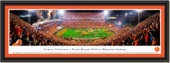 2018 Season Clemson University Football Frank Howard Field at Memorial Stadium Framed Print