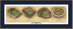 New York Historic Ballparks of Baseball Framed Panoramic