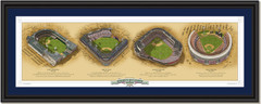 New York Historic Ballparks of Baseball Framed Panoramic