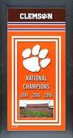 2018 Clemson Tigers Framed Championship Banner
