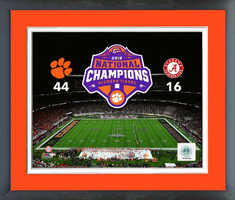 2018 Clemson Tigers National Championship Framed Print