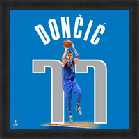 Luka Doncic Uniform Framed Photo