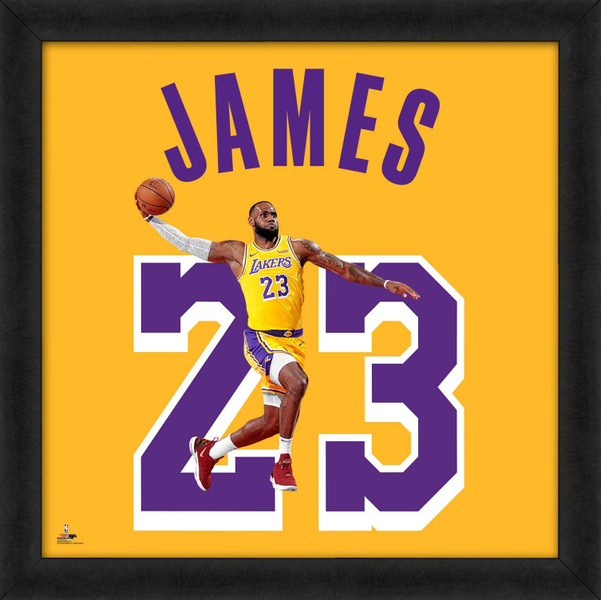 Lebron James Uniform Framed Print