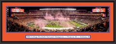 2018 Clemson CFP National Championship CELEBRATION Framed Print - Black Frame with Double Mat