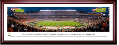 2018 Clemson and Alabama CFP National Championship KICKOFF Framed Print - Cherry Frame
