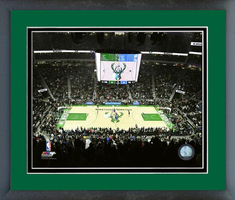 Fiserv Forum Home of the Milwaukee Bucks Framed Print