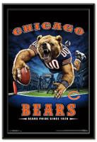 Chicago Bears Team Mascot End Zone Framed Poster