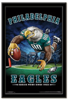 Philadelphia Eagles Team Mascot End Zone Framed Poster