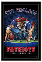 New England Patriots Team Mascot End Zone Framed Poster