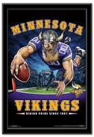 Minnesota Vikings Team Mascot End Zone Framed Poster
