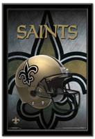 New Orleans Saints Team Helmet Framed Poster