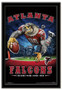 Atlanta Falcons Team Mascot End Zone Framed Poster