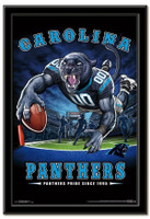 Carolina Panthers Team Mascot End Zone Framed Poster