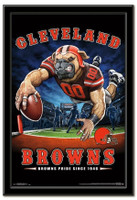 Cleveland Browns Team Mascot End Zone Framed Poster