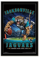 Team Mascot Jacksonville Jaguars End Zone Framed Poster