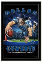 Dallas Cowboys Team Mascot End Zone Framed Poster