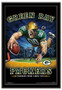 Green Bay Packers Team Mascot End Zone Framed Poster