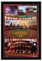St. Louis Cardinals' Busch Stadium Framed Collage Poster