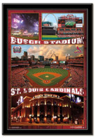 St. Louis Cardinals' Busch Stadium Framed Collage Poster