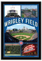 Chicago Cubs Wrigley Field Framed Collage Poster