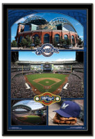 Milwaukee Brewers Miller Park Framed Collage Poster