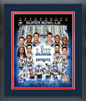 New England Patriots 2019 Super Bowl Champs Framed Composition