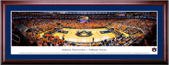 Auburn Tigers Basketball Framed Print - CHERRY FRAME MATTED
