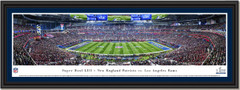 2019 Super Bowl Rams and Patriots KICKOFF Framed Print