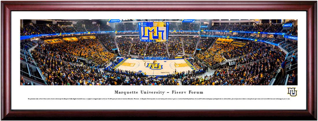 Marquette Golden Eagles Basketball Fiserv Forum Framed Print